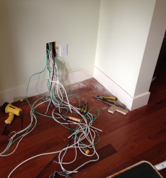 Messy Wires:  From This…